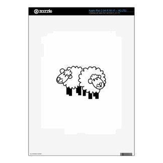 Dos ovejas pegatinas skins para iPad 3