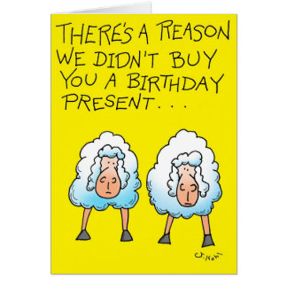 Dos ovejas tarjeta de felicitación