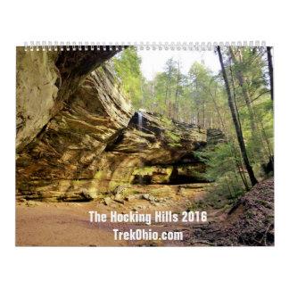 Dos-Página, calendario grande - colinas 2016 de