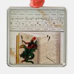 Dos páginas 'de unos de los reyes magos adorno navideño cuadrado de metal