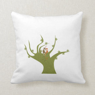 Dos pájaros en el extracto verde oliva tree.png almohada