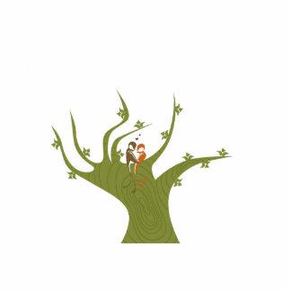 Dos pájaros en el extracto verde oliva tree.png esculturas fotograficas