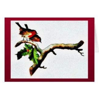 Dos pájaros que se colocan en una rama que mira ab felicitacion