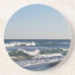Dos pájaros sobre la playa de Kure Posavasos Personalizados