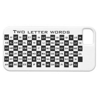dos palabras de la letra en blanco y negro funda para iPhone SE/5/5s