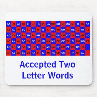 Dos palabras de la letra para los crucigramas y lo alfombrilla de ratones