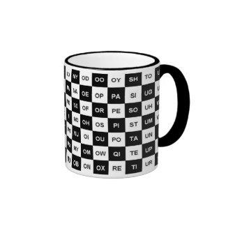 Dos palabras de la letra (versión internacional) tazas de café