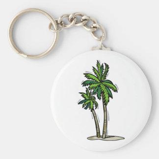 Dos palmeras llavero redondo tipo pin