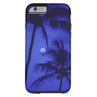 Dos palmeras y lunas funda de iPhone 6 tough