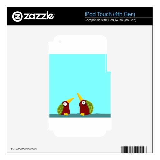 Dos palomas de la tortuga skins para iPod touch 4G