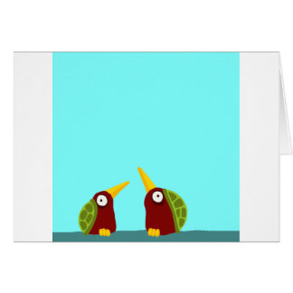 Dos palomas de la tortuga felicitacion