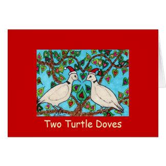 Dos palomas de la tortuga tarjetas