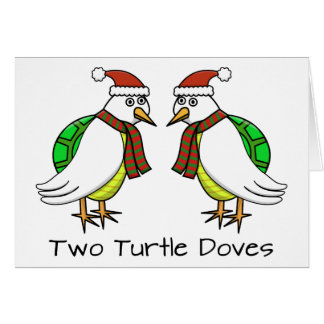 Dos palomas de la tortuga tarjeta