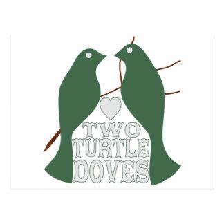 Dos palomas de la tortuga postal