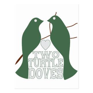 Dos palomas de la tortuga postales