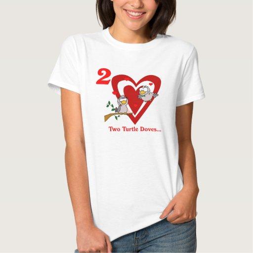Dos palomas de la tortuga tshirt