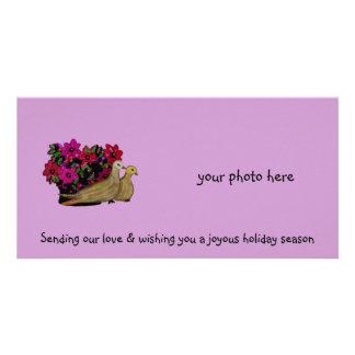 Dos palomas Photocards de la tortuga Tarjetas Personales