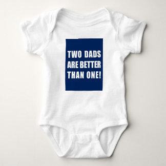 Dos papás son mejores de uno body para bebé