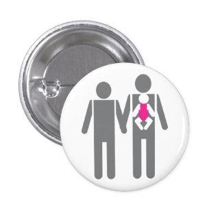 Dos papás y una hija pin