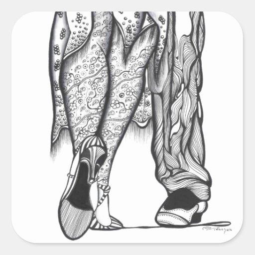 Dos para el tango pegatinas cuadradases