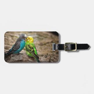 Dos Parakeets Etiqueta De Maleta