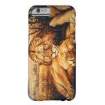 Dos pares del león funda de iPhone 6 barely there