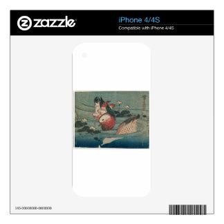 Dos patos de Keisai Eisen Calcomanía Para El iPhone 4