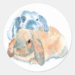 Dos pegatinas de los conejos