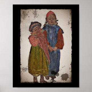Dos pequeñas hermanas 1906 póster