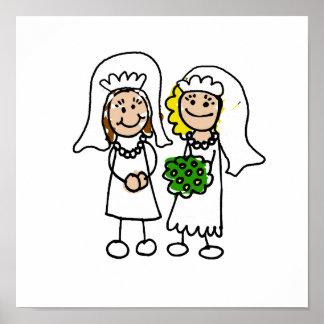 Dos pequeñas novias póster