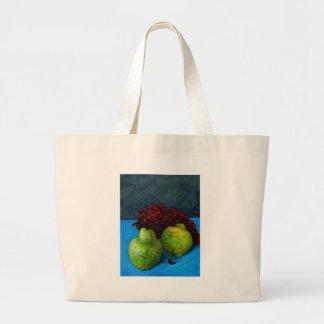 dos peras con la vid de uva bolsas