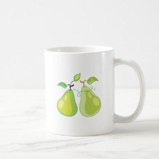 Dos peras tazas de café