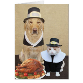 Dos peregrinos bendecidos tarjeta de felicitación