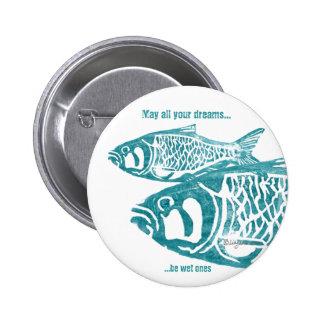 Dos pernos personalizados azul de los pescados pin