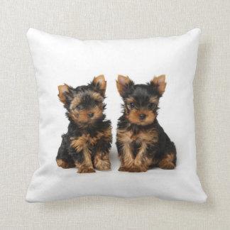 Dos perritos cojín