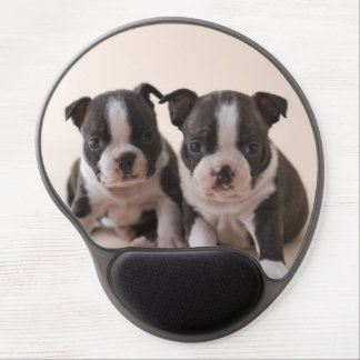Dos perritos de Boston Terrier Alfombrillas De Ratón Con Gel