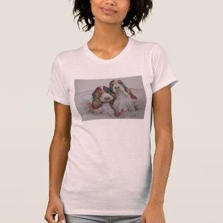 Dos perritos de cocker spaniel llamados los camiseta