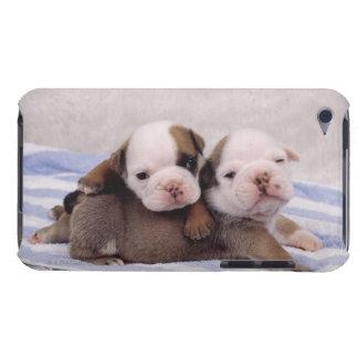 Dos perritos del dogo en la toalla Case-Mate iPod touch protectores