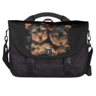 Dos perritos del yorkie bolsa de ordenador