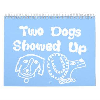 Dos perros aparecidos calendario