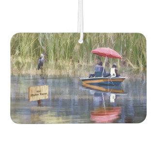 Dos pescadores en el lago