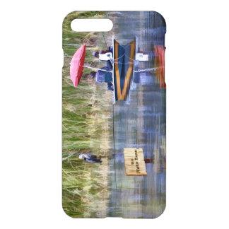 Dos pescadores en el lago funda para iPhone 7 plus