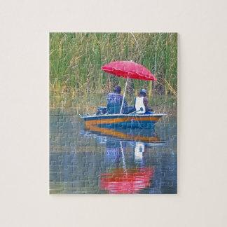 Dos pescadores en el lago rompecabeza