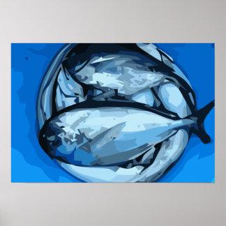 Dos pescados impresiones