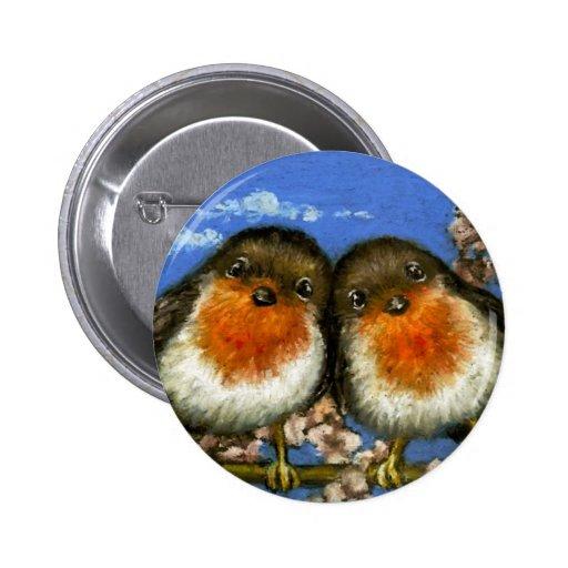 Dos petirrojos pins