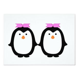 Dos pingüinos femeninos anuncios personalizados