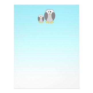 Dos pingüinos lindos. Dibujo animado en azul de ci Flyer A Todo Color