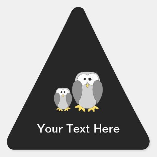 Dos pingüinos lindos. Historieta Pegatina Triangular