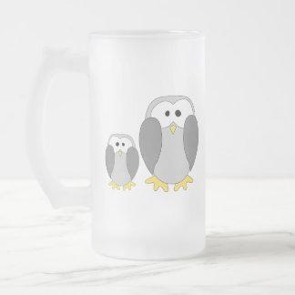 Dos pingüinos lindos. Historieta Tazas