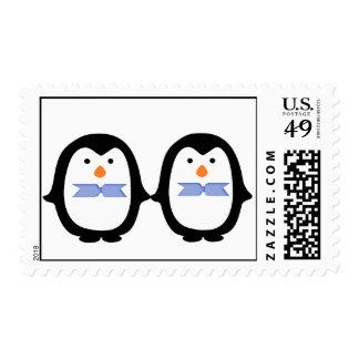 Dos pingüinos masculinos de los pingüinos sello